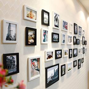 超大客厅 儿童照片墙 相框墙 相框组合 创意欧式 相片墙 36框包邮