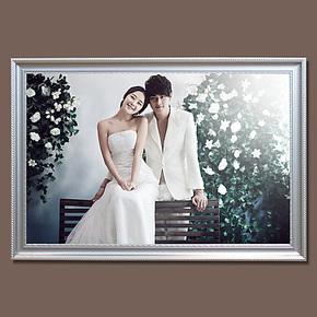 现代韩式相框36寸30寸24寸大挂墙相框婚纱照相框油画框代冲洗照片