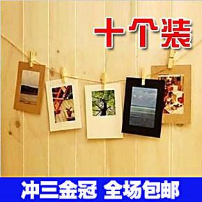 4743 照片墙相片墙组合 韩国6寸diy纸质悬挂宝宝创意麻绳夹子相框