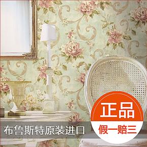 布鲁斯特进口正品纯纸墙纸 浪漫田园卧室背景壁纸 小城故事58862