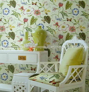 正品布鲁斯特墙纸 空山新雨壁纸SH80804 SH80803 卧室背景墙 现货