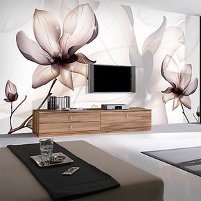 电视背景墙纸壁纸客厅沙发卧室墙贴大型壁画无纺布自粘墙布玉兰花