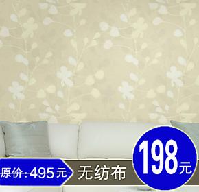 天丽壁纸 正品牌 无纺布墙纸 田园风格 卧室温馨 客厅 室内墙壁纸
