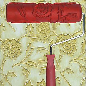 7寸液体壁纸印花滚筒刷油漆印花工具花纹刷墙滚筒硅藻泥工具EG110