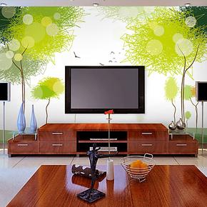 欧尚大型壁画 墙纸 卧室 电视沙发背景墙简约现代壁纸 绿色旋律