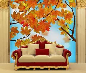 欧尚 大型壁画 电视背景墙纸壁纸 卧室床头背景墙纸壁纸 自粘墙纸