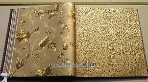 JXY美式压花金箔金色墙纸电视背景墙客厅金黄色壁纸卧室家装墙纸