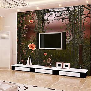 雅帝 个性简约树高花开电视背景墙纸壁纸卧室背景大型壁画自粘