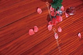 柏尔地板 实木地板 地热专用地板 格木(红色)