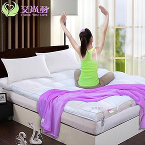 送毛毯】艾尚羽白鹅毛羽绒床垫酒店全棉立体加厚10CM保暖特价正品