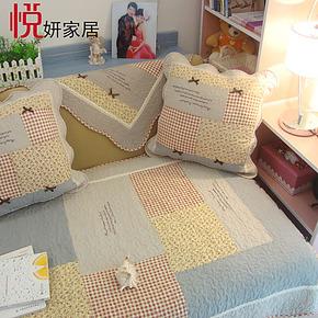 可爱韩式蕾丝田园纯全棉皮沙发垫布艺坐垫夏天防滑沙发巾飘窗垫子