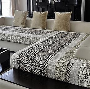 欧式豹纹四季全棉沙发垫布艺坐垫皮沙发垫坐垫防滑沙发套罩沙发巾