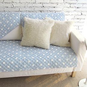 【豆豆】宜家简约现代韩式双面吉屋布艺沙发垫坐垫盖布左右爱