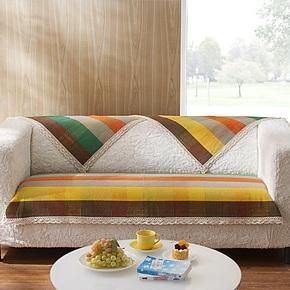 Cozzylife家居新品 魔方格纯手工纯棉 简约现代沙发垫布艺坐垫
