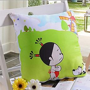 双面纯棉 家用车用抱枕被两用 折叠午休被 空调被 沙发靠垫被包邮