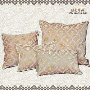 专柜正品金色花卉抱枕欧式风格靠枕汽车沙发高档靠垫垫子家用枕头