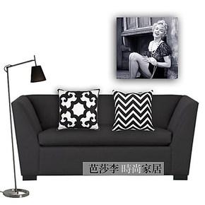 芭莎李 时尚黑白沙发床头靠枕抱枕靠垫床上靠背垫腰靠腰枕