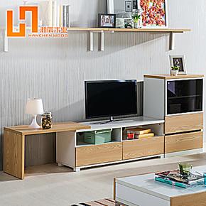 电视柜组合 可伸缩电视机柜 简约影视柜客厅储物地柜矮柜创意搁板