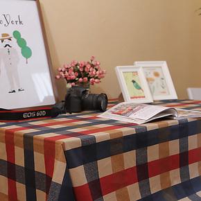 苏格兰格子加厚布艺桌布餐桌布英伦风格茶几台布地中海风格可定制