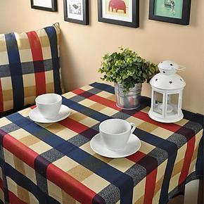 纯棉欧式苏格兰地中海风格格子餐桌布酒店餐台盖布现代茶几布特价