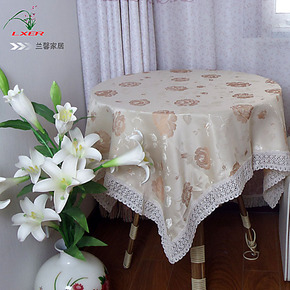 欧式温馨田园蕾丝棉布艺正方形餐桌布圆茶几台布椅套椅垫套装特价