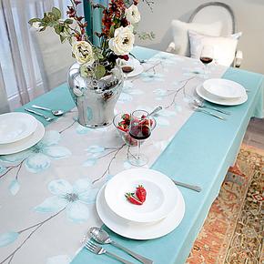 [吉屋]素兰 韩式田园布艺拼接桌布 餐厅茶几台布成品定做