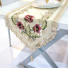 小艾 步摇 欧式田园桌布 镂空餐桌布桌旗台布餐桌茶几布 布艺椅套