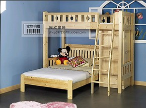 包邮特价实木儿童床儿童上下床双层床儿童高低床儿童家具套房