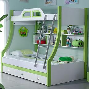 酷派家具儿童床子母床双层 男女上下床  双人高低床 多功能组合床
