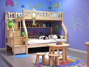 松堡王国双层床 儿童实木床 子母床 上下床 高低床 SP-C203 正品