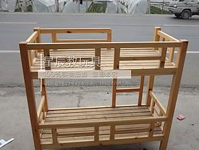 东北樟子松双层床 幼儿园双层床 实木床原木床 儿童上下床 高低床