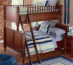 定做美式乡村儿童之母床高低床上下铺拖箱床等田园宜家系列家具