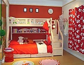 宜家实木儿童双层床子母床组合床上下床高低床松木公主床新款特价