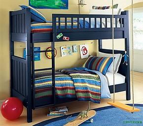 宜家高低床上下床高低床子母床实木高低橡木子母床松木双层床