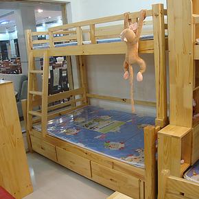 儿童双层床儿童家具欧式田园上下床公主床实木床套房高低床子母床
