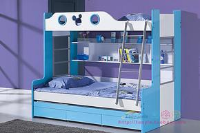 包邮米兰儿童上下床子母床青少年高低床儿童床迪士尼风格米奇床