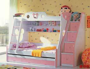 儿童家具 儿童床 双层床 上下床 高低床 子母床 可爱公主米奇床