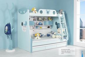 未来之窗青少年儿童家具 高低床 子母床 米奇款儿童床 6020上下床
