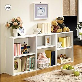 书柜自由组合韩式书柜宜家柜子书橱简易书架儿童储物云顶冰家具