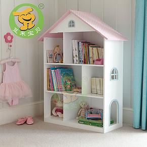 包邮!书架书橱书柜储物柜玩具收纳架整理柜木制儿童家具外贸原单
