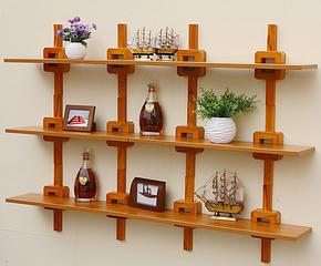 艾凡得/墙上装饰搁板置物架创意墙面装饰壁架隔板/实木壁挂架书架