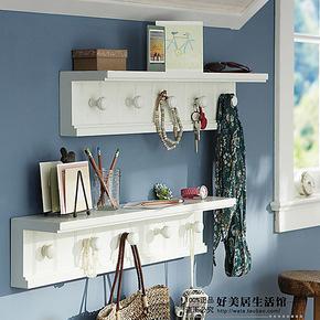 欧式置物架 壁挂衣架花架书架 墙壁装饰架墙架搁板壁架 空间创意