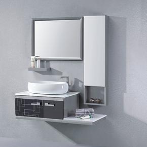 沐良 无指纹304不锈钢浴室柜 卫浴柜组合 洗脸盆 豪华浴室柜6138