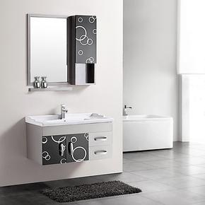包邮不锈钢浴室柜组合洗脸盆卫浴柜0.6/0.8/1.2米带侧柜特价2103