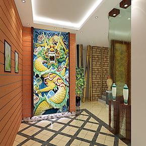 龙 客厅卧室沙发电视背景墙纸壁纸大型壁画 主题背景定制