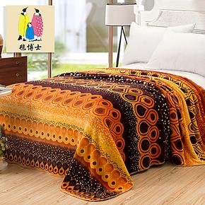 毯博士毛毯 法兰绒毯子 冬天保暖床单珊瑚绒毯加厚毛毯子 特价毯