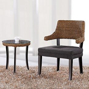 藤编藤艺简约家具休闲椅子/藤沙发椅小茶几藤茶几藤桌椅餐椅