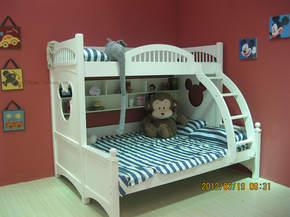 现货包邮 韩式迪士尼米奇儿童双层床上下床高低子母床儿童床