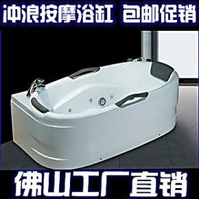 热销包运五件套冲浪按摩移动浴缸双人亚克力浴盆1.7米212恒温加热