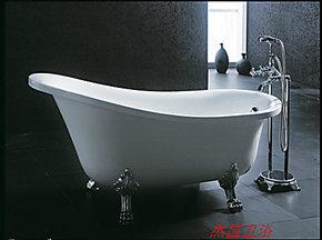 杰昌卫浴JC-5207白色红色高邦1.6米独立式简易古典贵妃浴缸亚克力